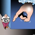 Hand of God cartoon
