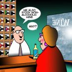 Bottle shop cartoon