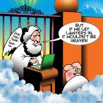 Heaven for lawyers cartoon