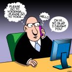 Voice mail cartoon