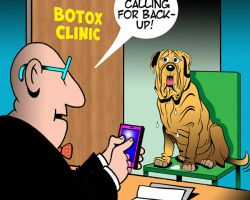 Wrinkly dog cartoon
