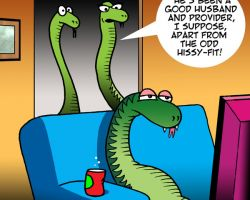 Married snakes cartoon