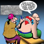 Tattoo parlour cartoon