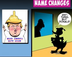 Name change cartoon