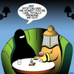 Beekeeper and Burqa cartoon