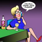 Women wine lovers cartoon