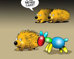 Porcupines cartoon