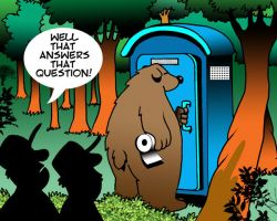 Bear in the woods cartoon