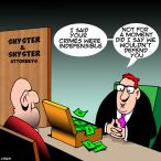 Shyster cartoon