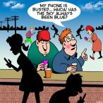 smart phone addiction cartoon