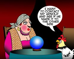 Fortune teller cartoon