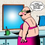 man in woman's underwear cartoon