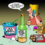 Wine shop cartoon