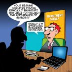 Recruitment agency cartoon
