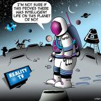 Alternative life in space cartoon