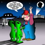 Alien invasion cartoon