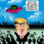 Flying saucer cartoon
