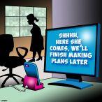 Talking computers cartoon