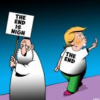 The end is near cartoon