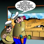 Mexican border cartoon
