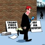 Trump and Jesus cartoon
