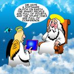 Angel talking to God cartoon