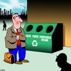 recycling bin cartoon