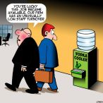 Water cooler cartoon