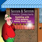 Financial adviser cartoon