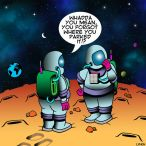 Lost astronauts cartoon