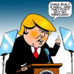 Great wall of China cartoon