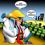 Trump as Elvis cartoon