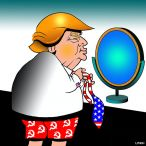 Donald Trump dressing cartoon