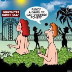 Nudist club cartoon