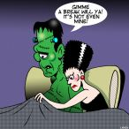 Bride of Frankenstein cartoon