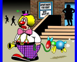 Apartment for rent cartoon