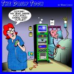Intensive care ward cartoon