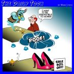 Woman's high heel shoes cartoon
