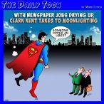 Clark Kent cartoon