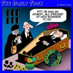 Funeral parlor cartoon