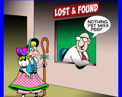 Lost and found cartoon