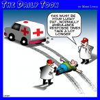 Ambulance waiting time cartoon