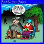 Life savings cartoon