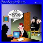 Fired cartoon