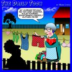 Clothes line cartoon