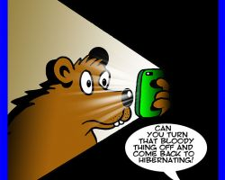 Hibernation cartoon