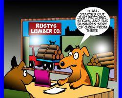 Lumber yard cartoon