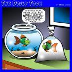 Plastic in the oceans cartoon