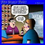 Wine sales cartoon