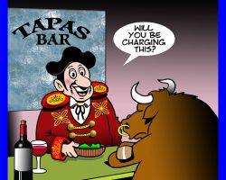 Tapas bar cartoon
